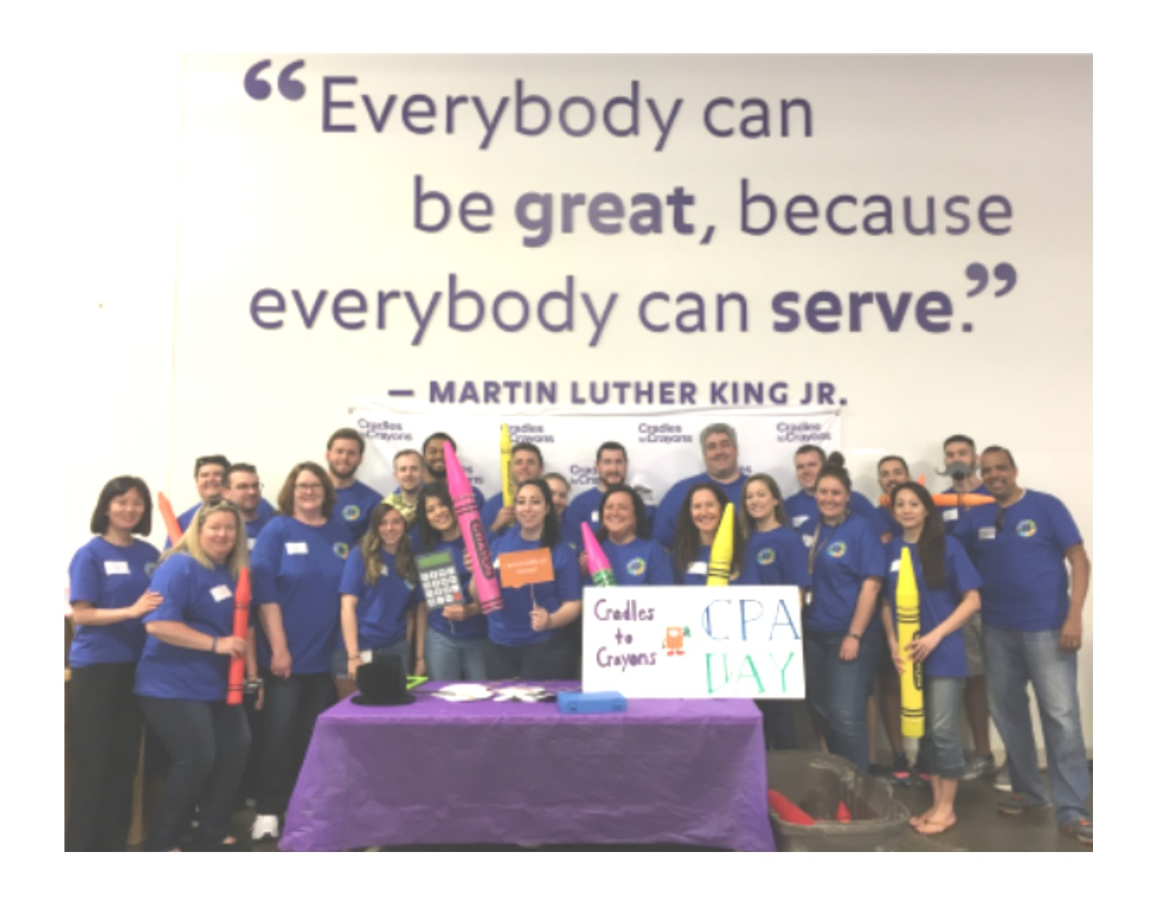 Newburg CPA day of giving charitable event at Cradles to Crayons