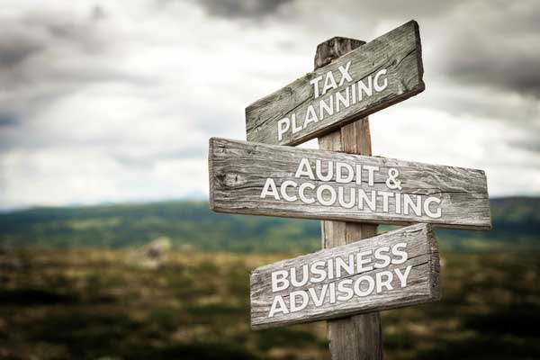 Tax Planning, Audit & Accounting Business, Advisory Sign